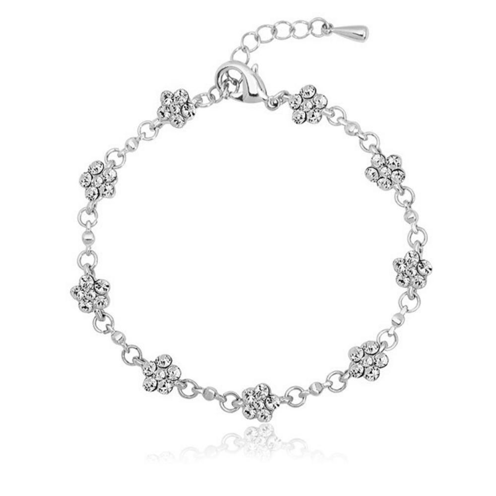Pure By Coppercraft Swarovski Flower Diamante Bracelet  - Perfect Gift
