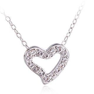 Pure By Coppercraft Swarovski Diamante Heart Pendant Necklace Thumbnail 1