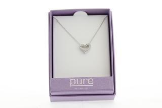 Pure By Coppercraft Swarovski Diamante Heart Pendant Necklace Thumbnail 2