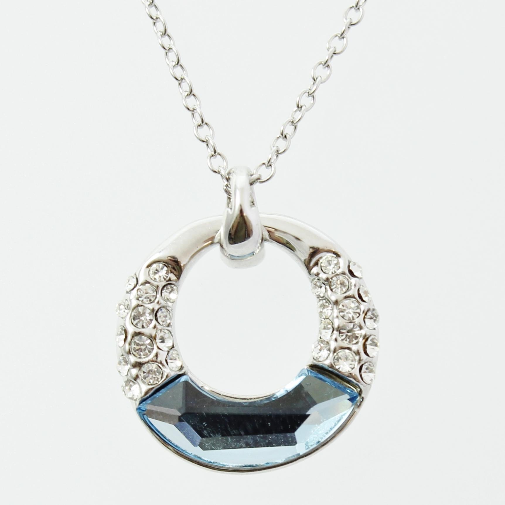 by coppercraft swarovski diamante pendant necklace