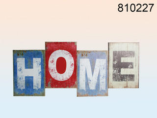 "Extra Large 60Cm Vintage Look Decorative Canvas Print Sign ""Home"" Wall Art Thumbnail 1"