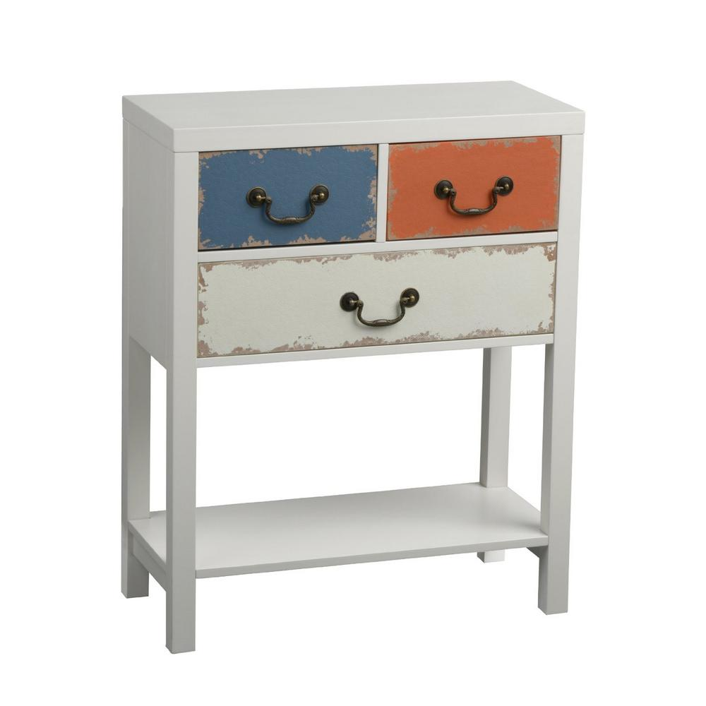 Alchemy Multi Coloured Storage Unit In Distressed Shabby Chic Design Cupboard