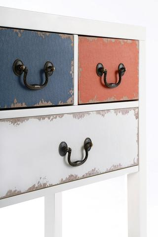 Alchemy Multi Coloured Storage Unit In Distressed Shabby Chic Design Cupboard Thumbnail 2