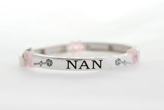 Pure By Coppercraft Semi Precious Stone Sentiment Bracelet - Rose Quartz - Nan Thumbnail 1