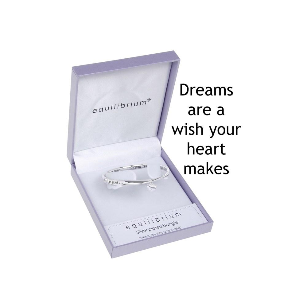 Dreams Are A Wish Your Heart Makes Plated Bangle Bracelet Gift Box