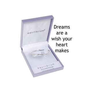Dreams Are A Wish Your Heart Makes Plated Bangle Bracelet Gift Box Thumbnail 1