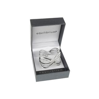Criss Cross Diamante Bracelet Silver Plated Bangle Boxed By Equilibrium Thumbnail 1