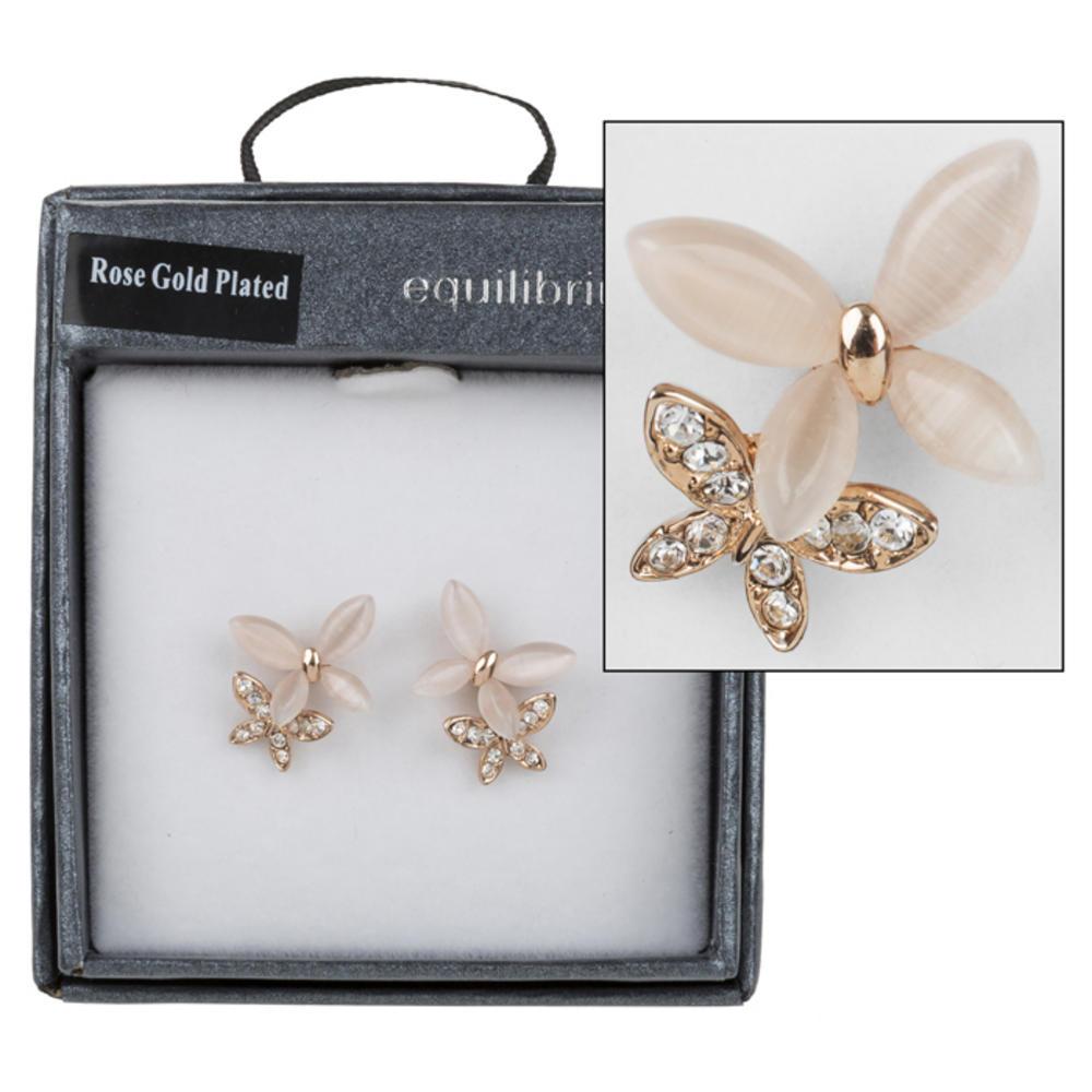 Butterfly Moonstone Earrings