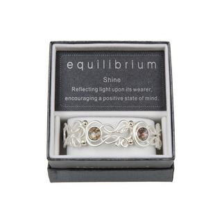Silver Plated Filigree Teardrop Bracelet In White Gift Boxed Loops Equilibrium Thumbnail 1
