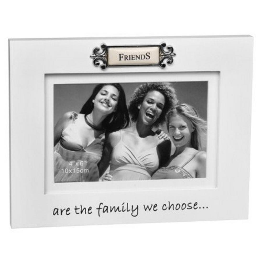 """Friends Are The Family We Choose Sentiment Picture Photo Frame - 6"""" X 4"""""""