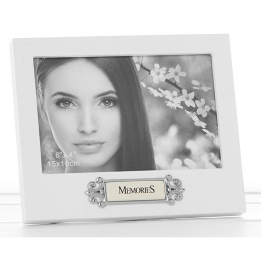 """Loved Ones Memories Sentiment White Picture Photo Frame - 6"""" X 4"""" - Perfect Gift"""