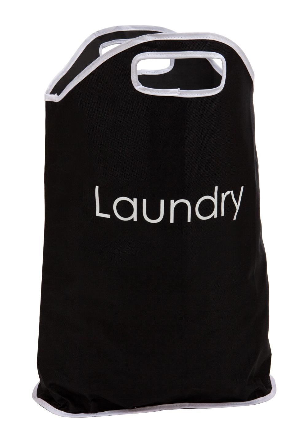 Black And White Folding Fabric Laundry Bag Bin Hamper