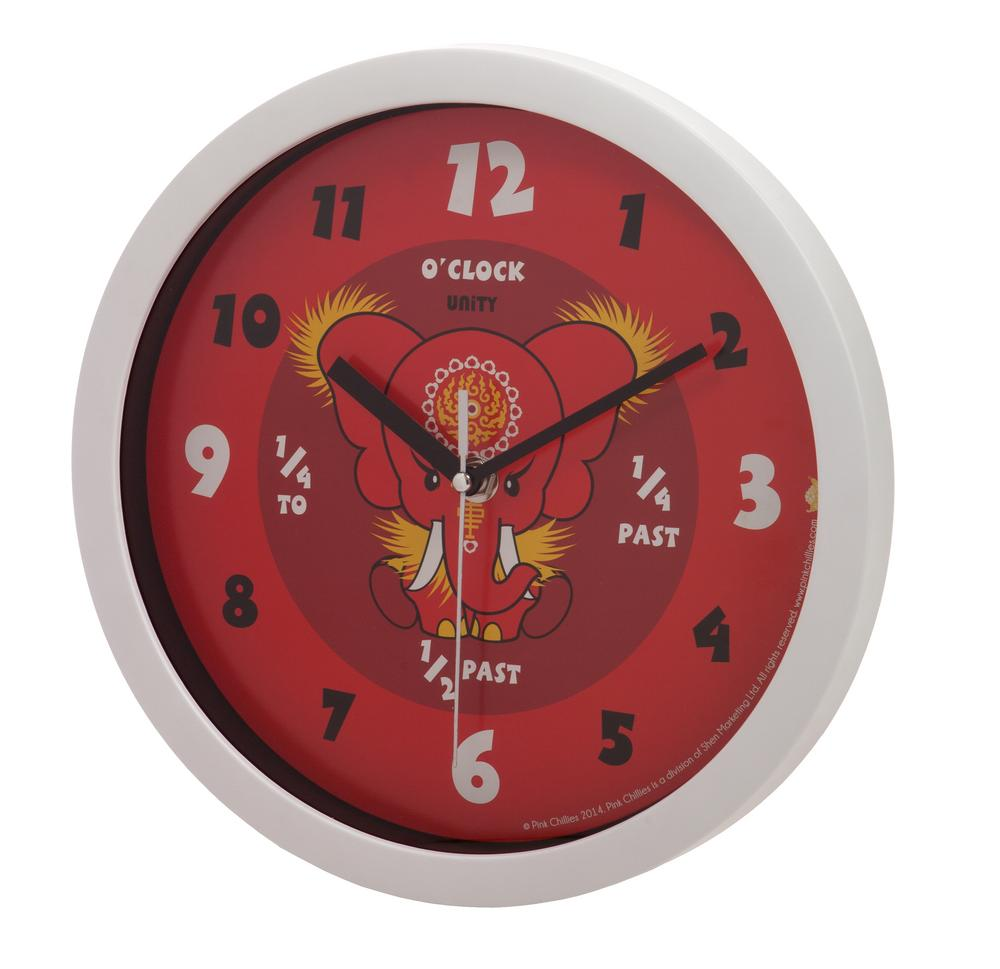 Da Hong Elephant Red Wall Clock