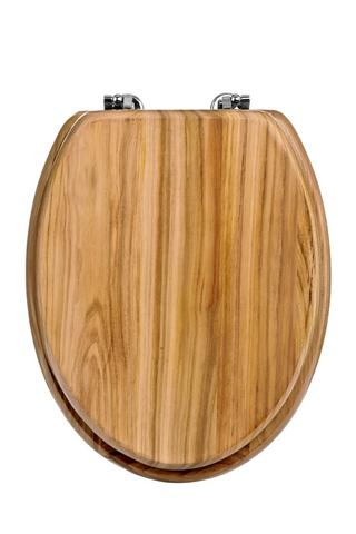 "Premier 18"" Pine Toilet Seat With Zinc Alloy Fixings Modern Bathroom Thumbnail 1"
