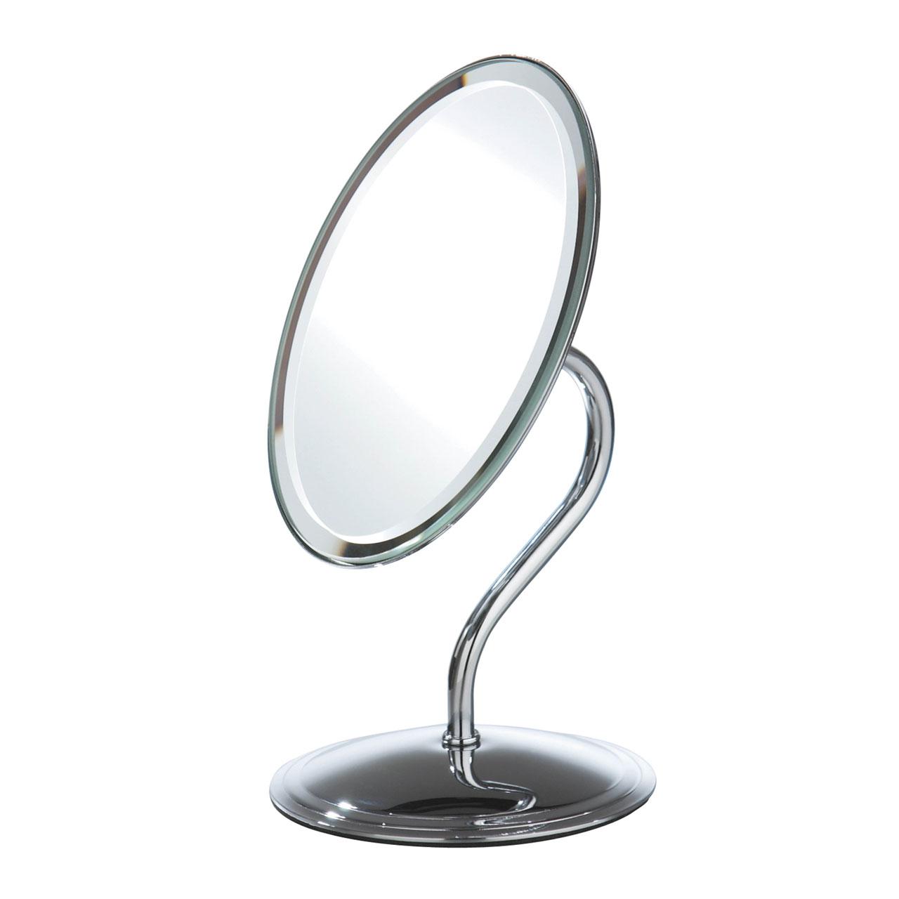 Chrome Effect Free Standing Modern Bathroom Shaving Oval Mirror Adelbrook Discount Store