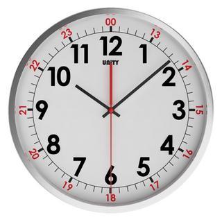 Unity Avon Silent Sweep Non-Ticking 30Cm Contemporary White Dial Wall Clock Thumbnail 1