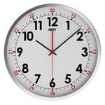 Unity Avon Silent Sweep Non-Ticking 30Cm Contemporary White Dial Wall Clock