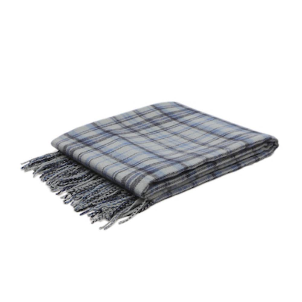 Malini Cosy Blanket Tartan Croft Throw in Navy