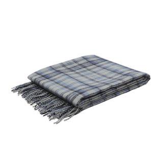 Malini Cosy Blanket Tartan Croft Throw in Navy Thumbnail 1