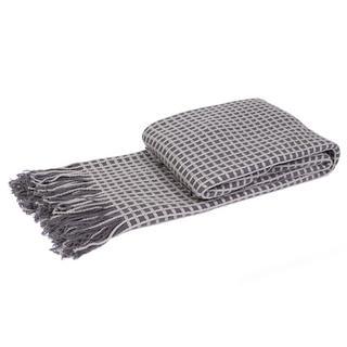 Malini Cosy Blanket Grid Throw in Slate Thumbnail 1
