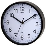 Radcliffe Radio Controlled Black Wall Clock