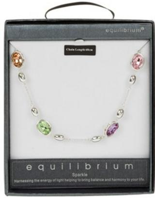 Equilibrium Spaced Large Crystals Long Necklace Thumbnail 1
