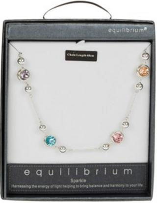 Equilibrium Small Spaced Crystals Long Necklace Thumbnail 1