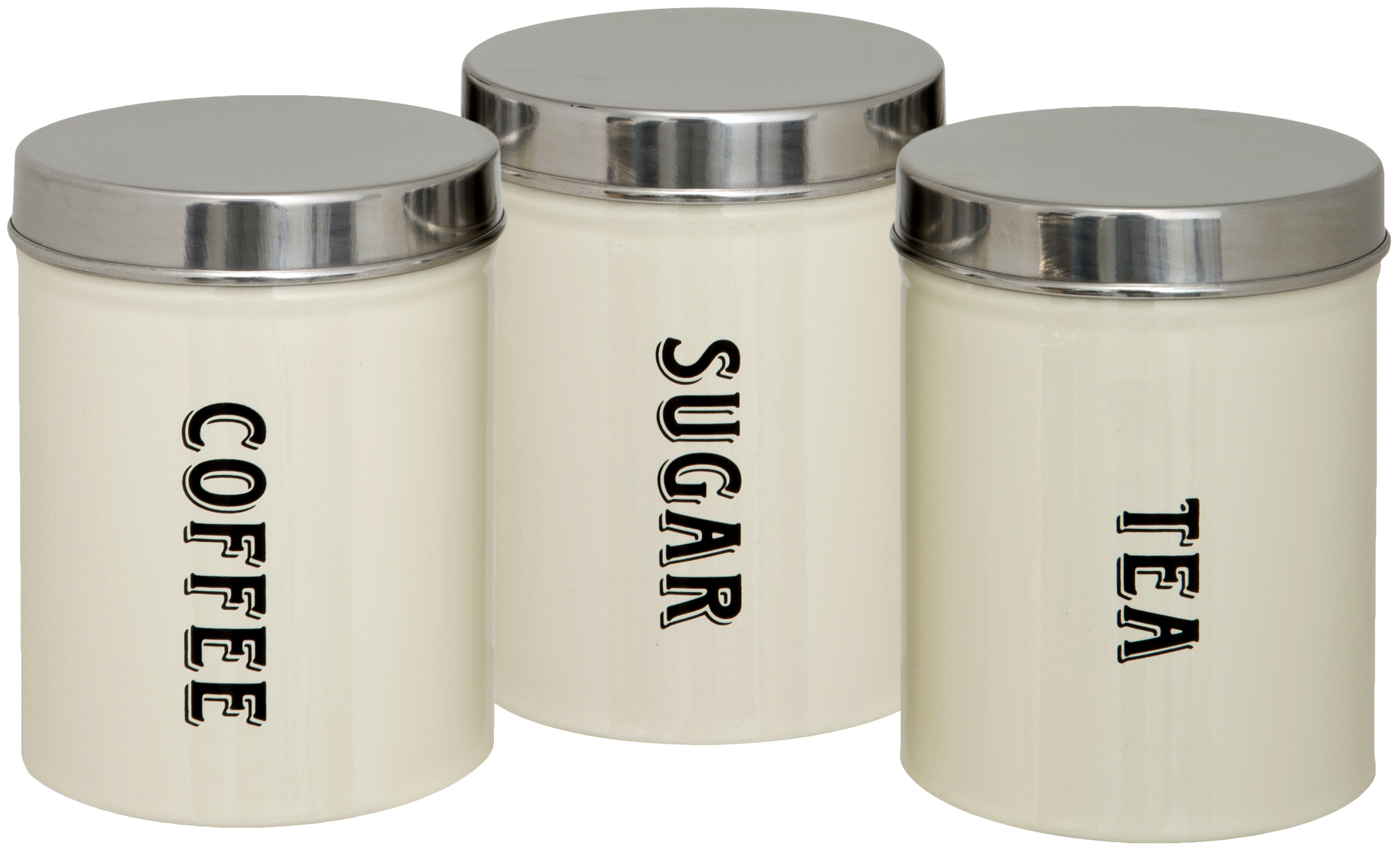 Set Of 3 New Tea Coffee Sugar Kitchen Storage Canisters Jars Pots Containers Set