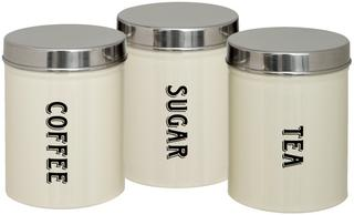 Set of Three Tea Coffee Sugar Canisters Thumbnail 1
