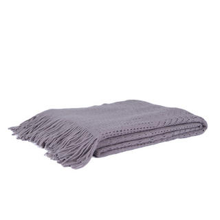 Malini Lace Throw in Taupe Thumbnail 1