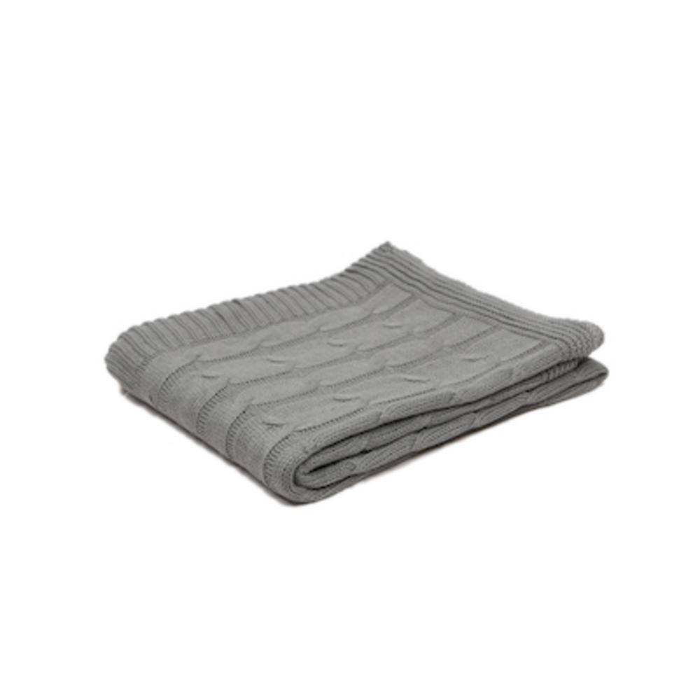 Malini Knitted Alpine Throw in Silver
