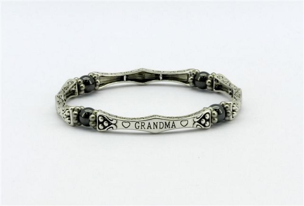 Pure Magnetic Hematite Sentiment Bracelet - Grandma