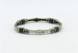 Pure Magnetic Hematite Sentiment Bracelet - Grandma Thumbnail 1
