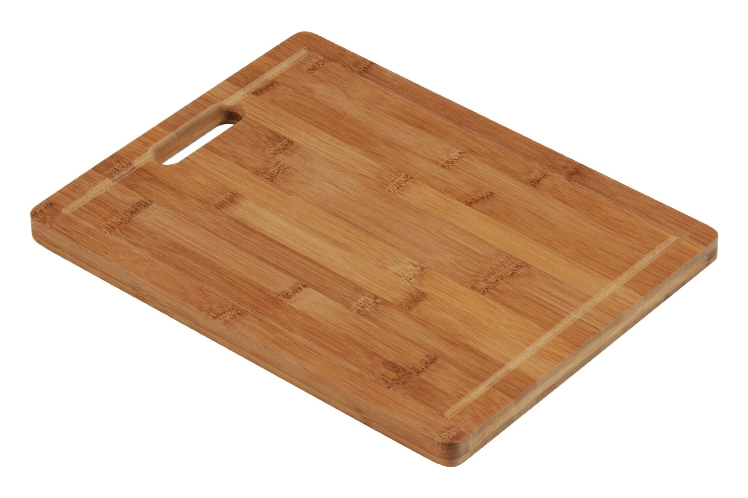 Bamboo Rectangular Chopping Board With Handles Kitchen Wood Worktop Slicing Ebay