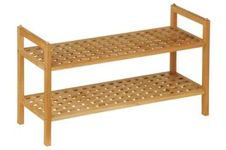 Two Tier Walnut Shoe Rack Thumbnail 1