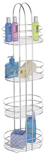 Four Tier Chrome Bathroom Organiser