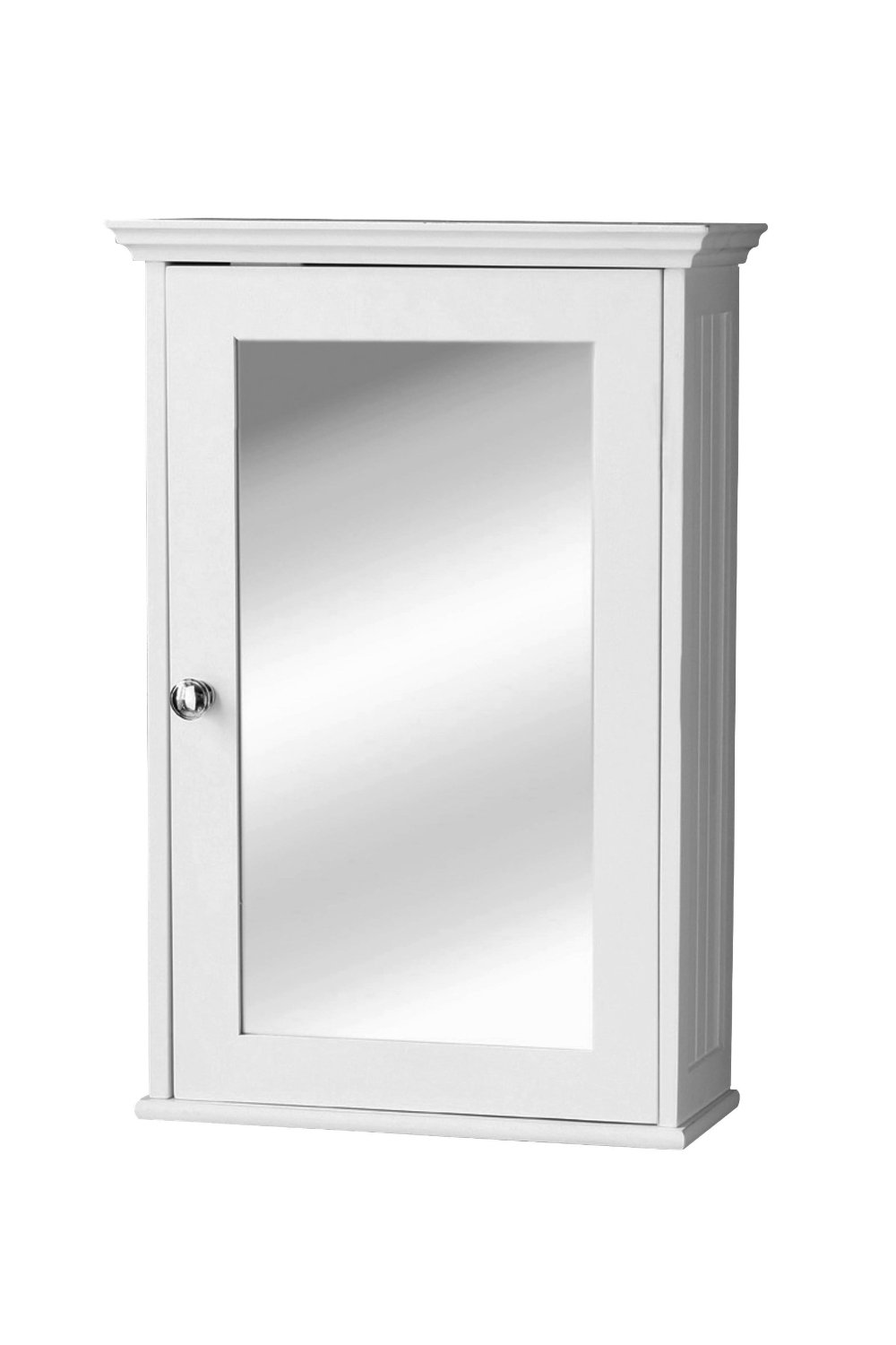 Portland mirrored bathroom storage cupboard cabinet white for White mirrored cabinet