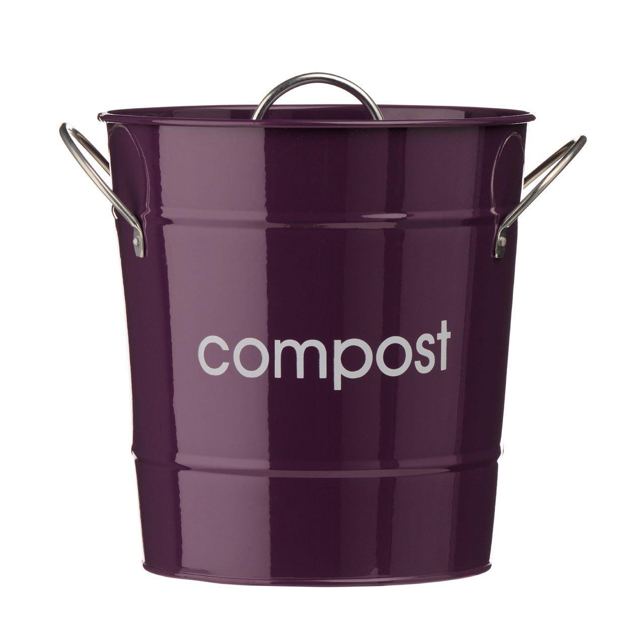 lila küche komposteimer verzinkter stahl pulver beschichtet zink