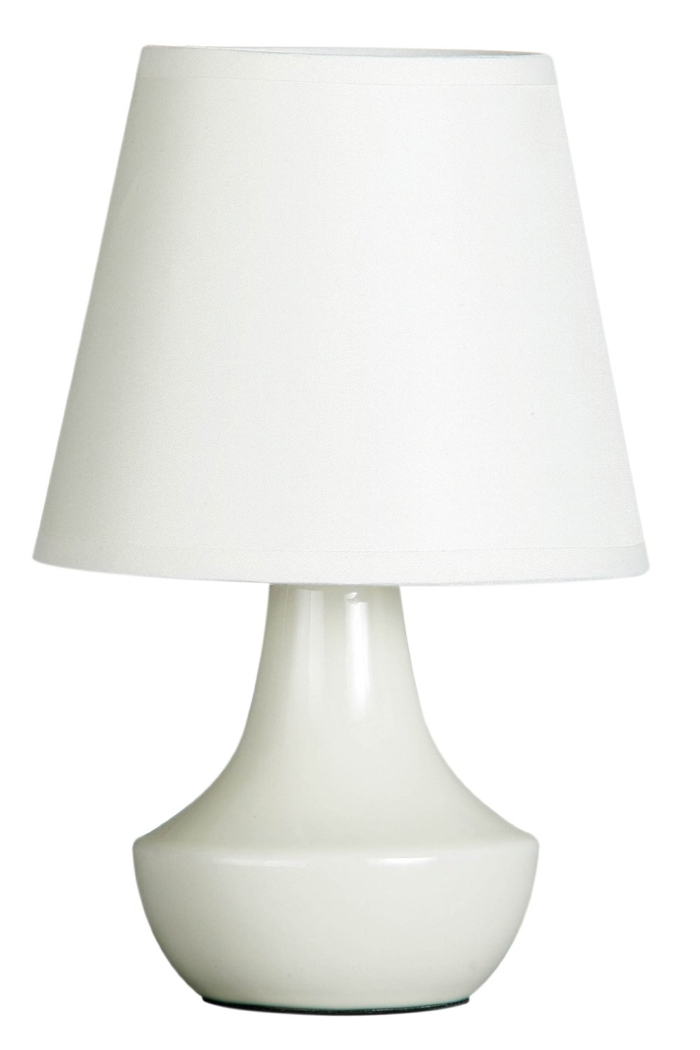 Set of two cream ceramic bedside table lamps with shade ebay for Bedside table lamp shades