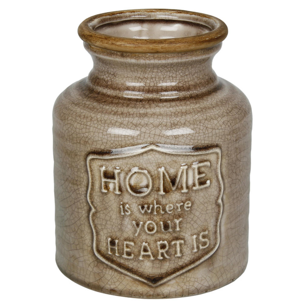 Apothecary Brown Fat Vase