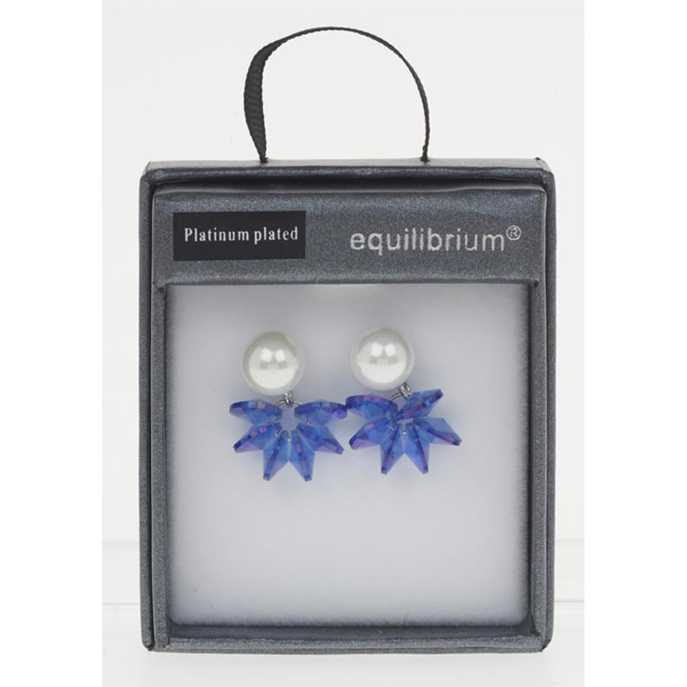 Blue Pearl Cluster Earrings