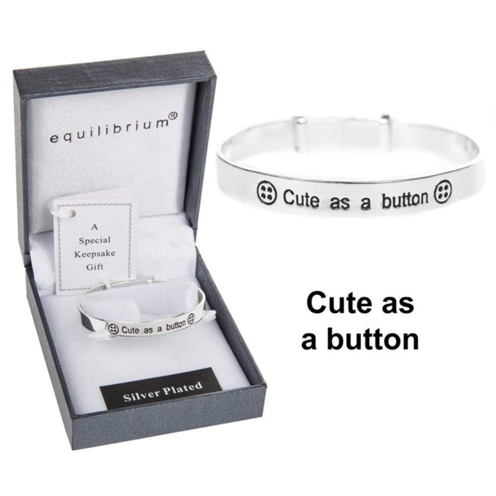 Cute as a Button Baby Bracelet