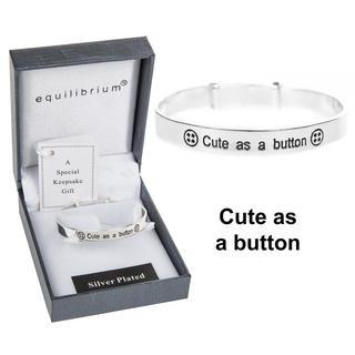 Cute as a Button Baby Bracelet Thumbnail 1