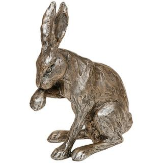 Champagne Bronze Hare Sitting Thumbnail 1