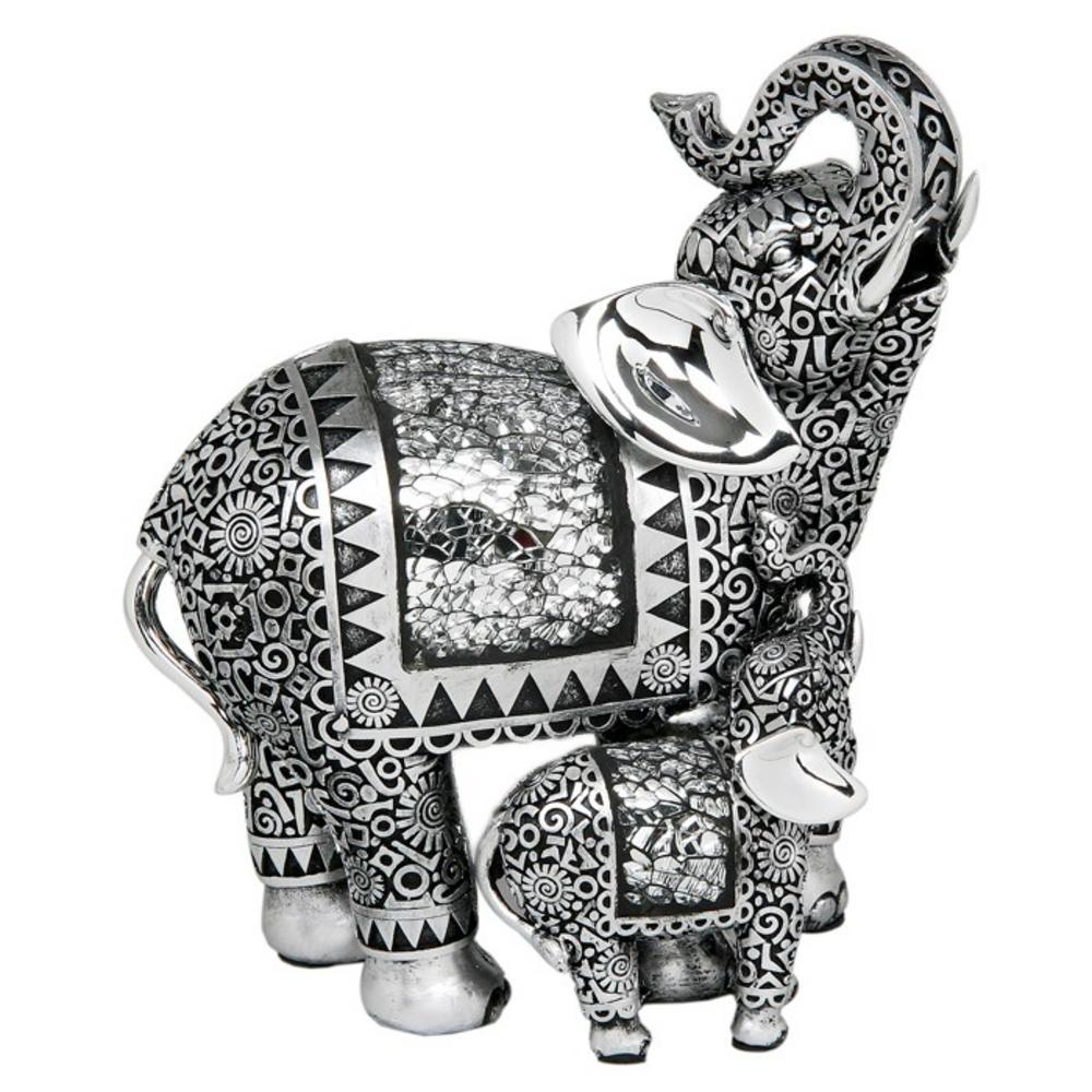 Silver Elephant & Baby