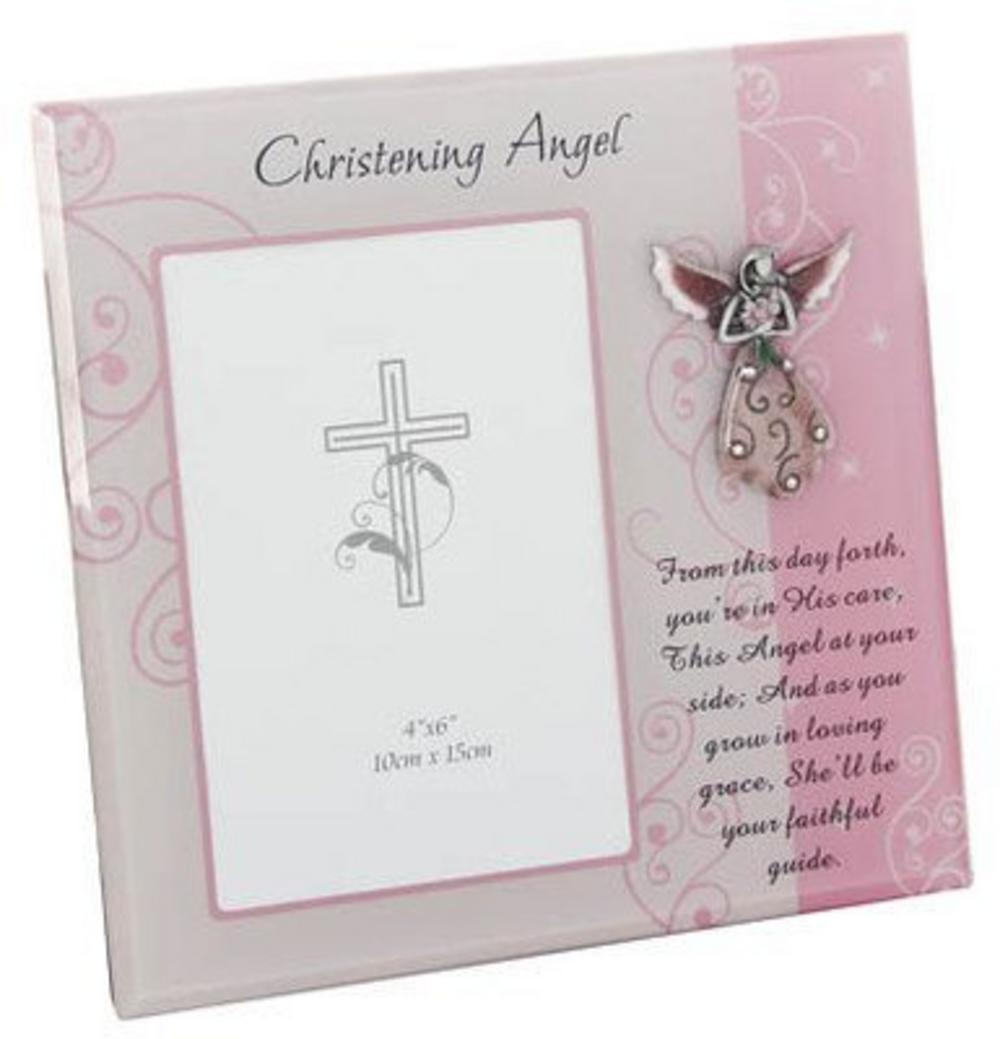 Christening Angel Photo Frame