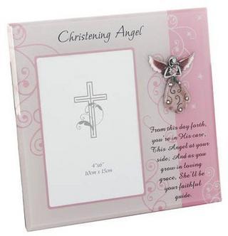 Christening Angel Photo Frame Thumbnail 1