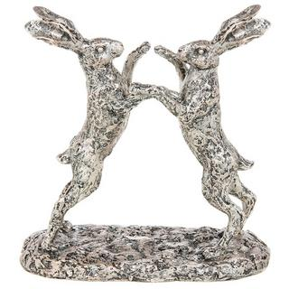 Champagne Bronze Boxing Hares Thumbnail 1