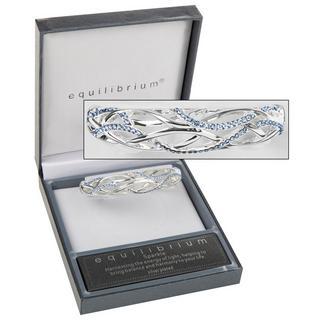 Diamante Wave Bracelet in Blue Thumbnail 1