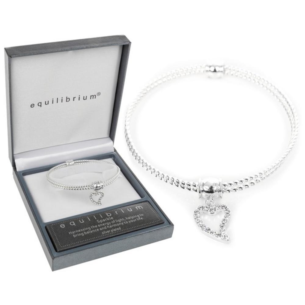 Two Rope Heart Charm Bracelet